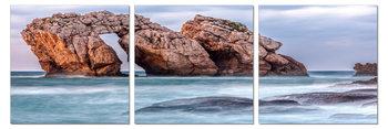 Cliffs in the ocean Mounted Art Print