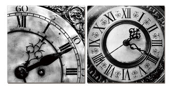 Designer clocks (B&W) Mounted Art Print