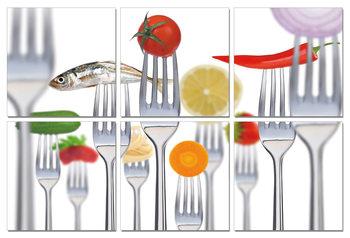 Fresh Food Mounted Art Print