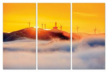 Golden sunset on the coast Mounted Art Print