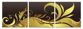 Modern Design - Black and Gold Ornament Mounted Art Print