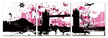 Modern Design - City Collage Mounted Art Print