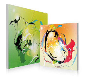 Modern design - colored abstraction Mounted Art Print