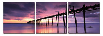 Old Wooden Jetty Mounted Art Print