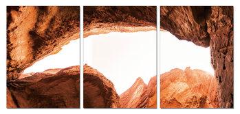 Sandstone cliffs Mounted Art Print