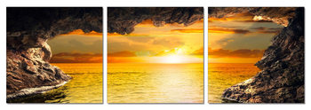 Sea - Sunset View Mounted Art Print
