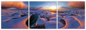 Sunrise on the coast Mounted Art Print