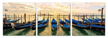 Venice - Gondola Gathering Mounted Art Print