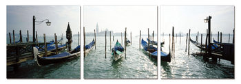 Venice - Port for Gondolas Mounted Art Print