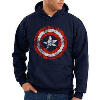 Pusero  Captain America - Distressed Shield
