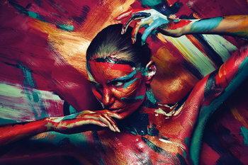 Quadro em vidro Art Woman - Art Painting