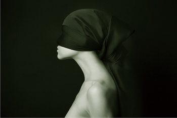 Quadro em vidro Art Woman - Silhouette &W