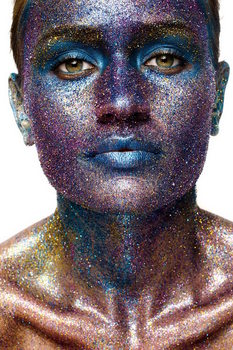 Quadro em vidro Art Woman - Statue of Face