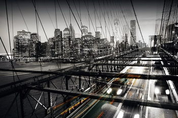 Quadro em vidro Black and White Bridge