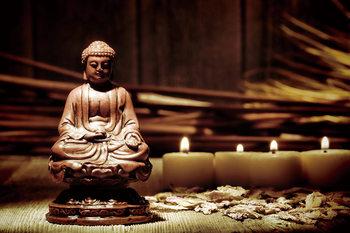 Quadro em vidro Buddha - Candles