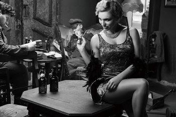 Quadro em vidro Café - Sitting Woman