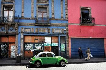 Quadro em vidro Cars - Green Car