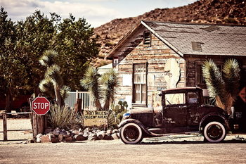 Quadro em vidro Cars - Old car