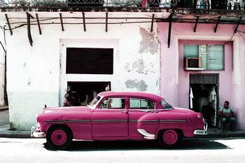 Quadro em vidro Cars - Pink Cadillac