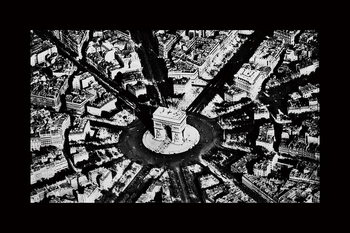 Quadro em vidro City - Black and White