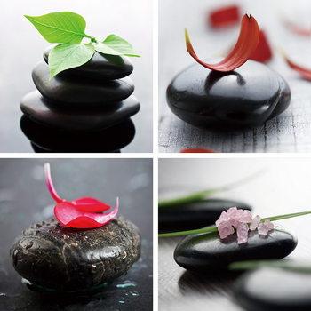 Quadro em vidro Colorful Zen
