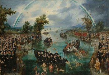 Quadro em vidro Fishing For Souls, Van De Venne