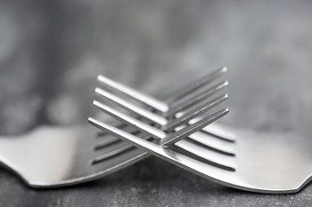 Quadro em vidro Forks - Connections