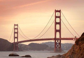 Quadro em vidro Golden Gate