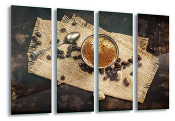 Quadro em vidro  Hot Coffee