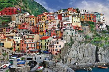 Quadro em vidro Italy - Cinque Terre