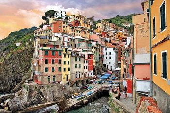 Quadro em vidro Italy - Romantic City