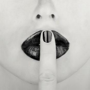 Quadro em vidro Lips - Shhh