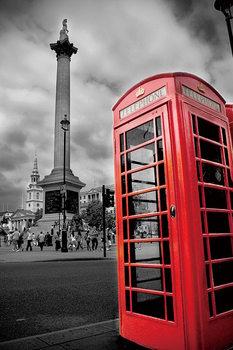 Quadro em vidro London - Red Telephone Box