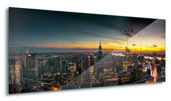 Quadro em vidro  Manhattan Sunset