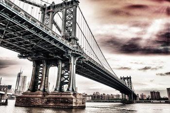Quadro em vidro New York - Brooklyn Bridge, Apocalypse
