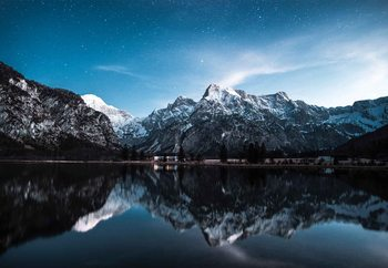 Quadro em vidro  Night Reflections