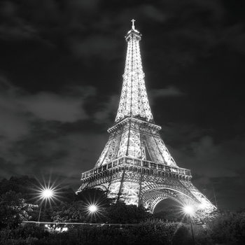 Quadro em vidro Paris - Eiffel Tower at Night