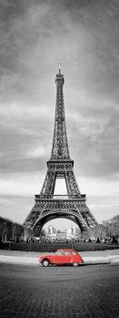 Quadro em vidro Paris - Red Car