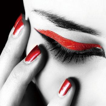 Quadro em vidro Passionate Woman - Eye