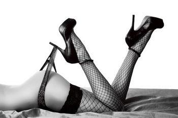 Quadro em vidro Passionate Woman - Sexy Legs