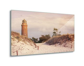 Quadro em vidro  Pastel Lighthouse