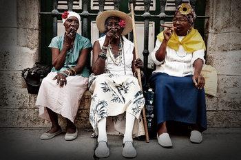 Quadro em vidro People in the Street