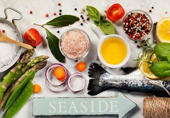 Quadro em vidro Salmon Dinner