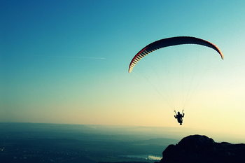 Quadro em vidro Skydiving - Adrenalin