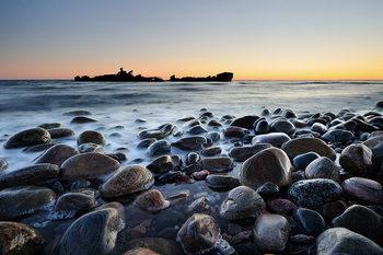 Quadro em vidro Stones on the Shore