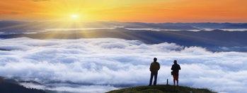 Quadro em vidro Success - Top of the Mountain
