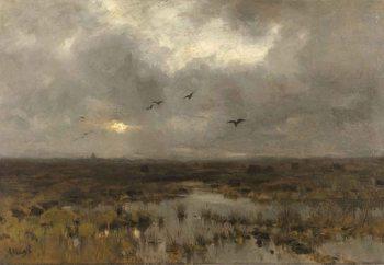 Quadro em vidro  The Marsh, Anton Mauve