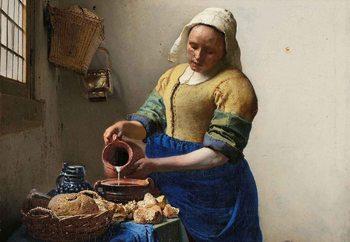 Quadro em vidro  The Milkmaid, Vermeer