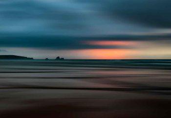 Quadro em vidro The Painted Beach