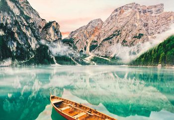 Quadro em vidro Turquoise Lake